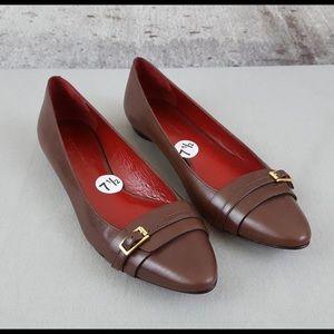 Banana Republic Sandrine Brown Leather Flats